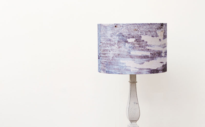 Blue coastal linen lampshade