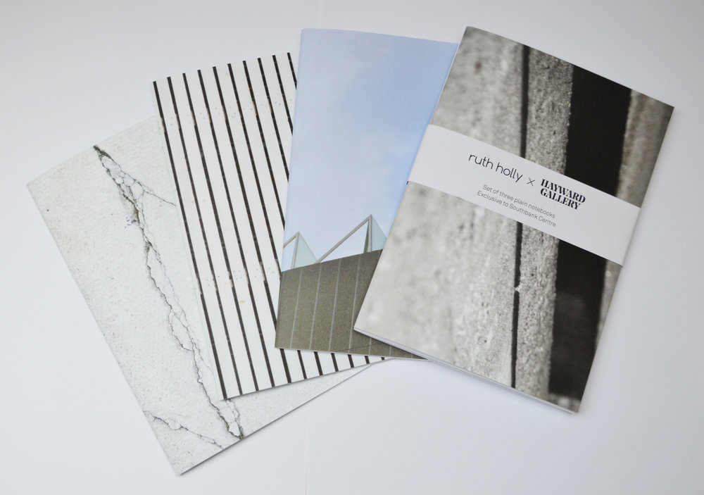 Ruth Holly X Hayward Gallery, Set of 3 notebooks RRP £15  http://shop.southbankcentre.co.uk/ruth-holly-set-of-3-notebooks.html