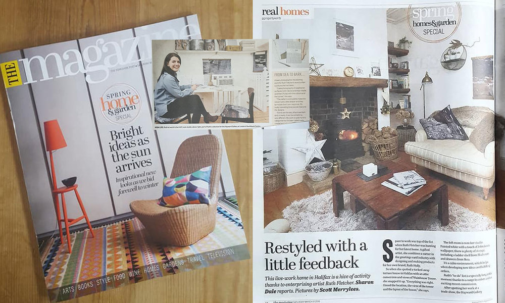 Yorkshire Post Magazine - My second time in The Yorkshire Post magazine, in the real homes section. Sharon Dale interviewed me and came to take photos of my lovely home. Nestled in the hills of West Yorkshire, I have created a classic interior scheme, combining traditional and contemporary furniture pieces, second hand finds, and my own products, resulting in a calming and soothing sanctuary like home. You can read and see more here