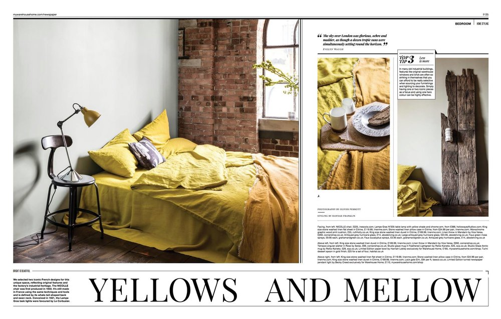 Warehouse Home Issue 6 - My Monochrome textures cushion was requested by Warehouse Home magazine for Issue 6, featuring loft living and how to style your home for that contemporary urban warehouse feel. You can read more  :)