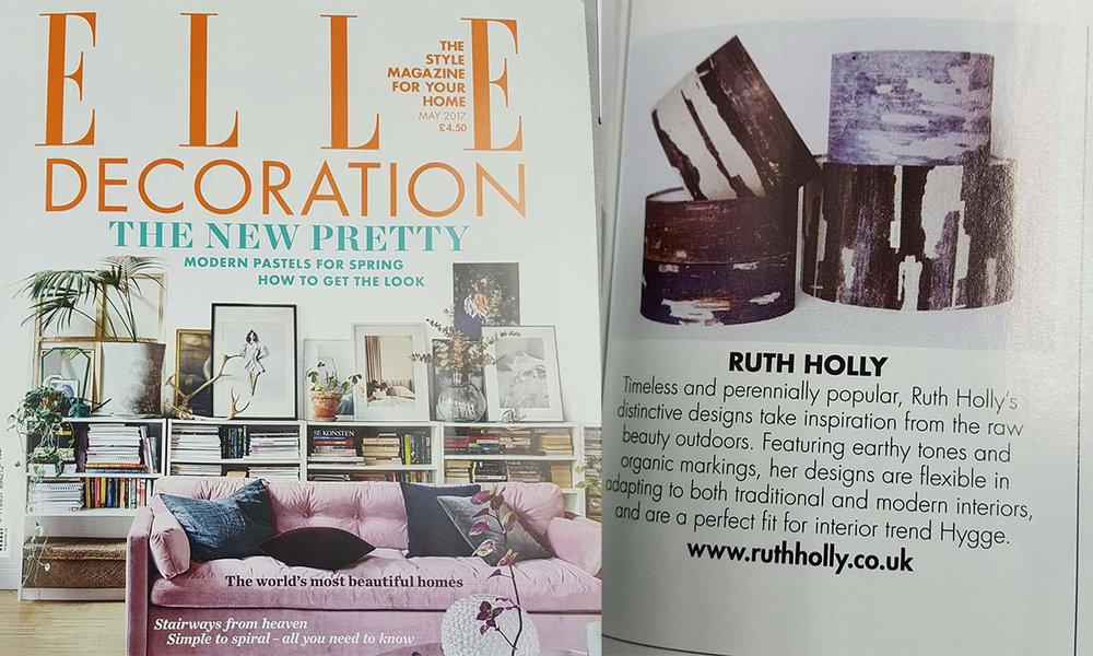 ELLE DECORATION - Our Signature Print Lampshades were in Elle Decoration,