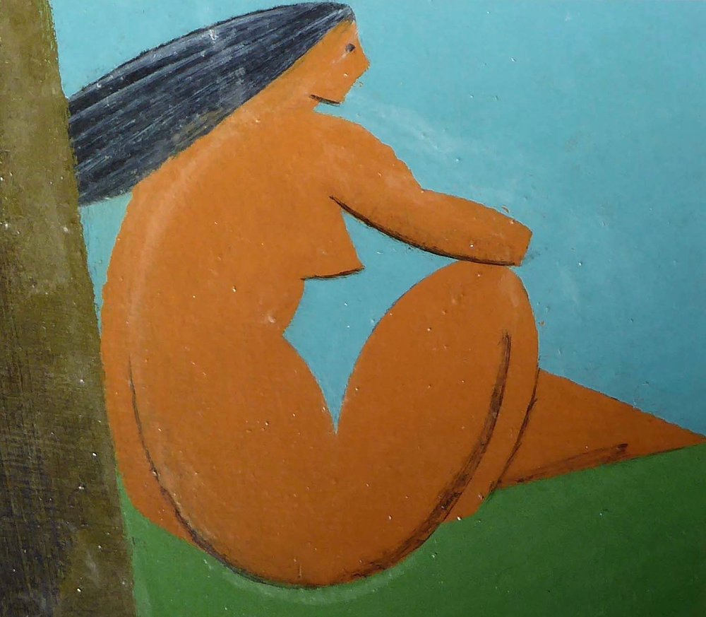 Female seated nude