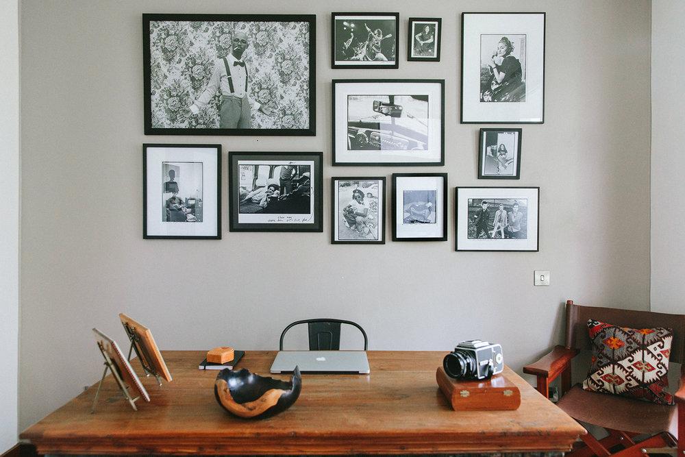 Artwork: Mario Macilau (top left), Kate Simon (top center, middle, and right), Danny Clinch (center right), Kate Simon (bottom row).
