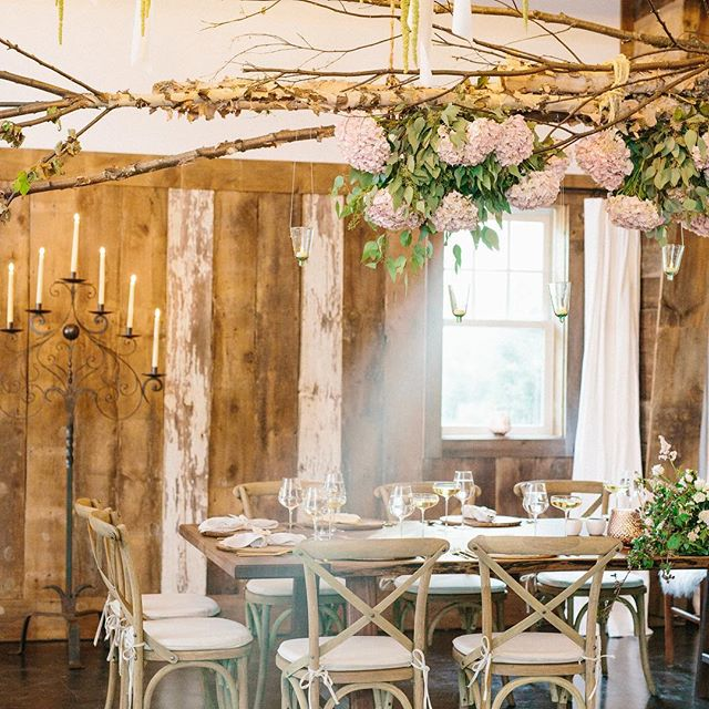 Head table at a boho reception