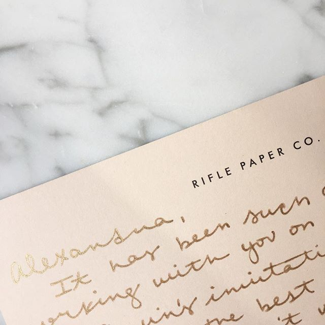 I love getting to work with great and talented people ... especially when they value snail mail as much as I do 🐌 @riflepaperco