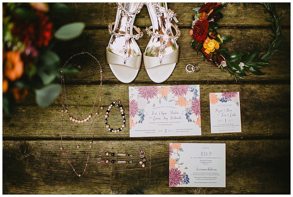 Wedding Details Flatlay