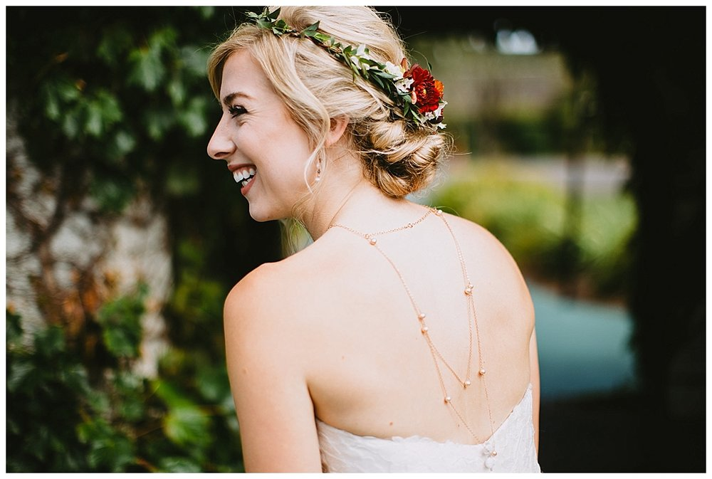 Boyne Mountain Wedding Bride Flower Crown