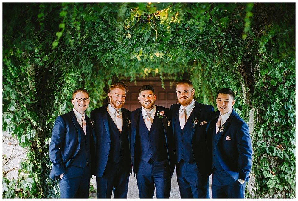 Boyne Mountain wedding groomsmen