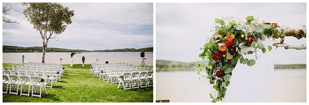 Lake Michigan Boyne Mountain Wedding Ceremony