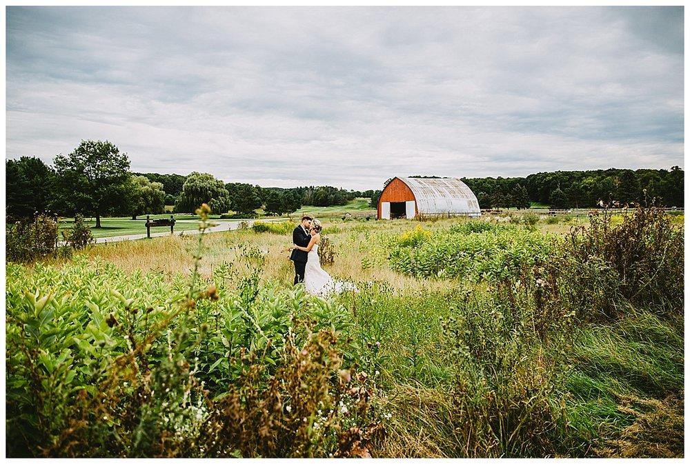 Red Barn Boyne Mountain bride and groom