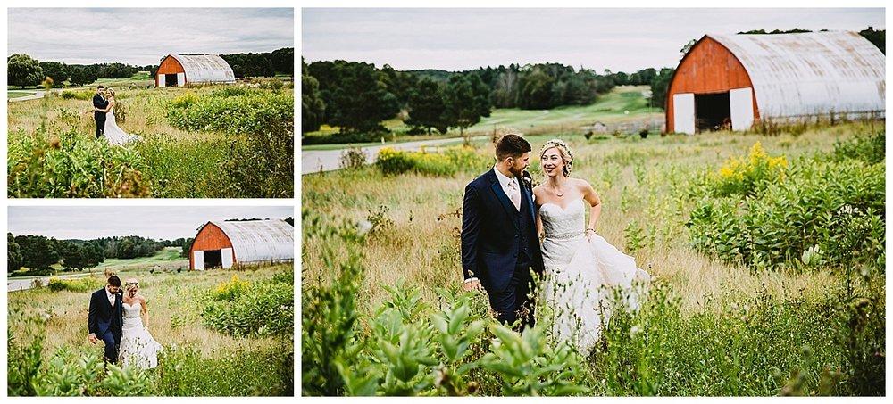 Northern Michigan Barn Wedding couple