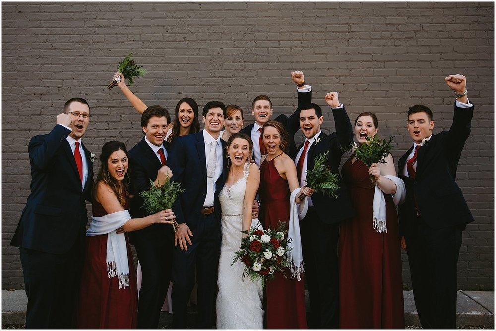 wedding party bride and groom wedding Goei Center Grand Rapids