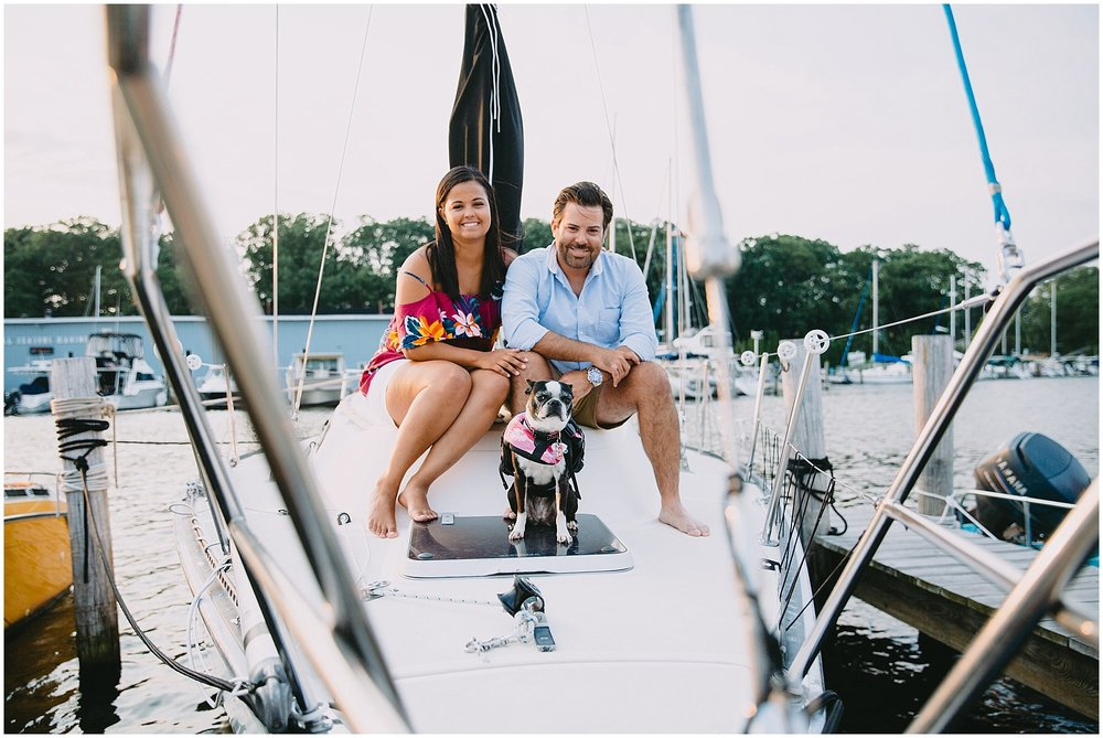 South Haven Sailboat Engagement Session Michigan Wedding Photographer