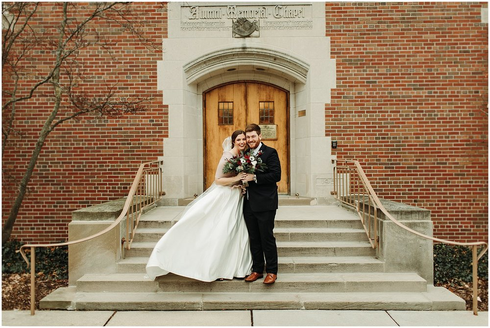 Michigan State Alumni Chapel Wedding