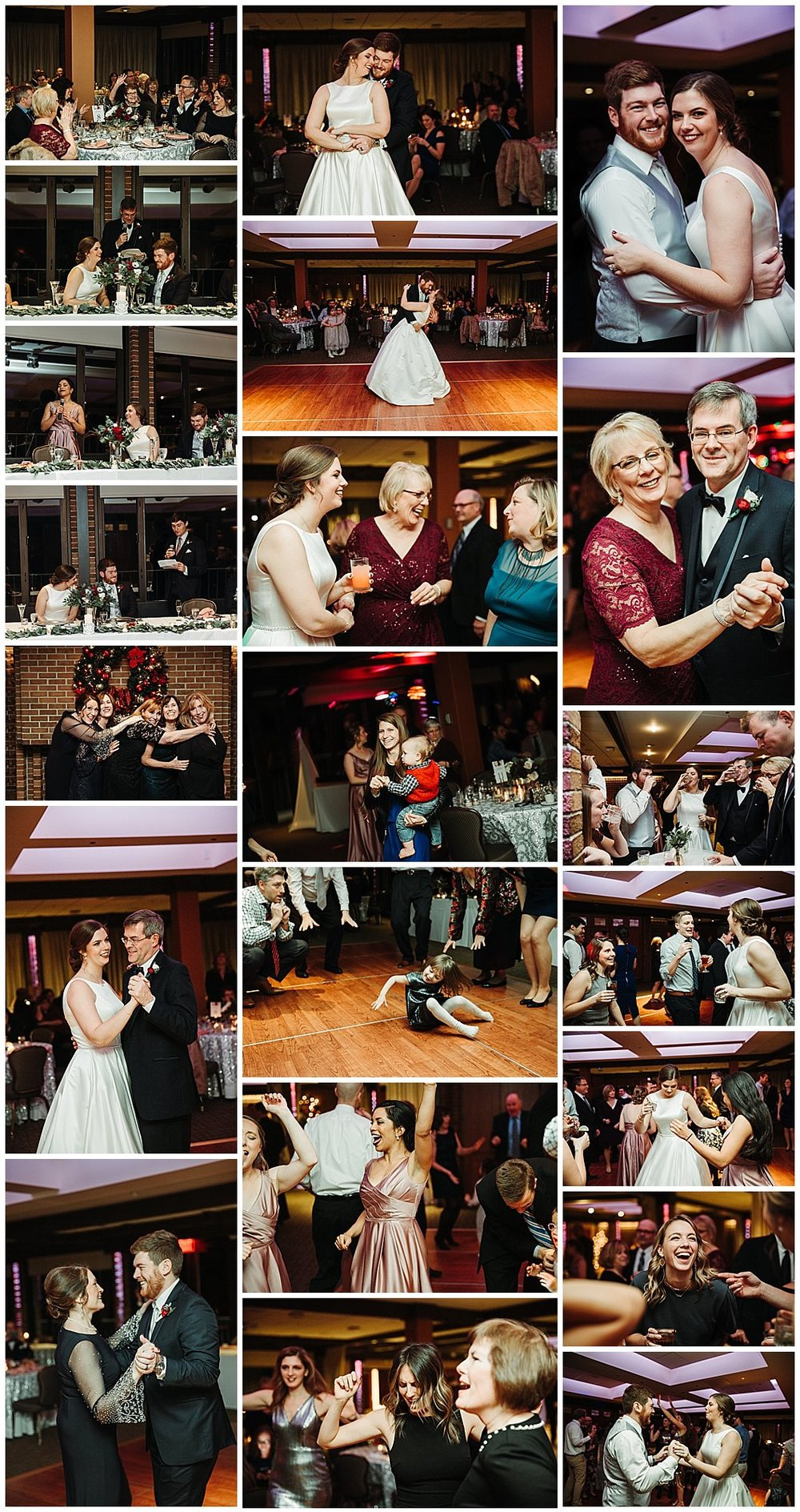Michigan State University Club Wedding Reception