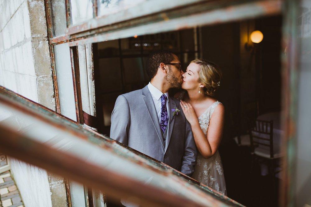 bride and groom creative wedding portrait