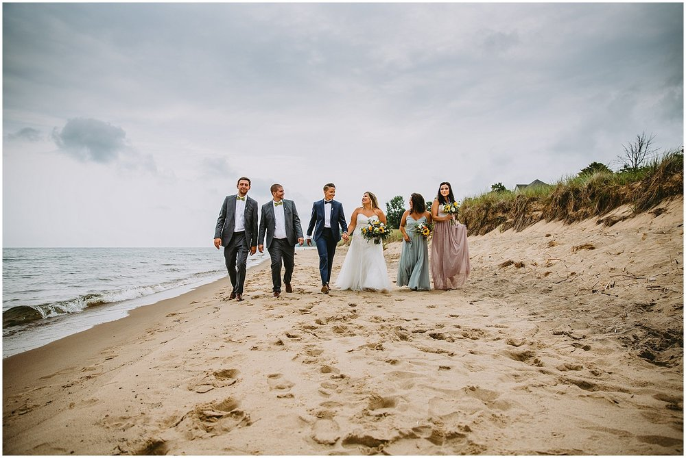 lake michigan beach wedding photographer