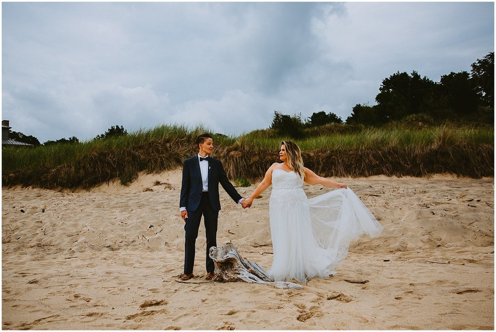 lgbtq beach wedding at camp blodgett