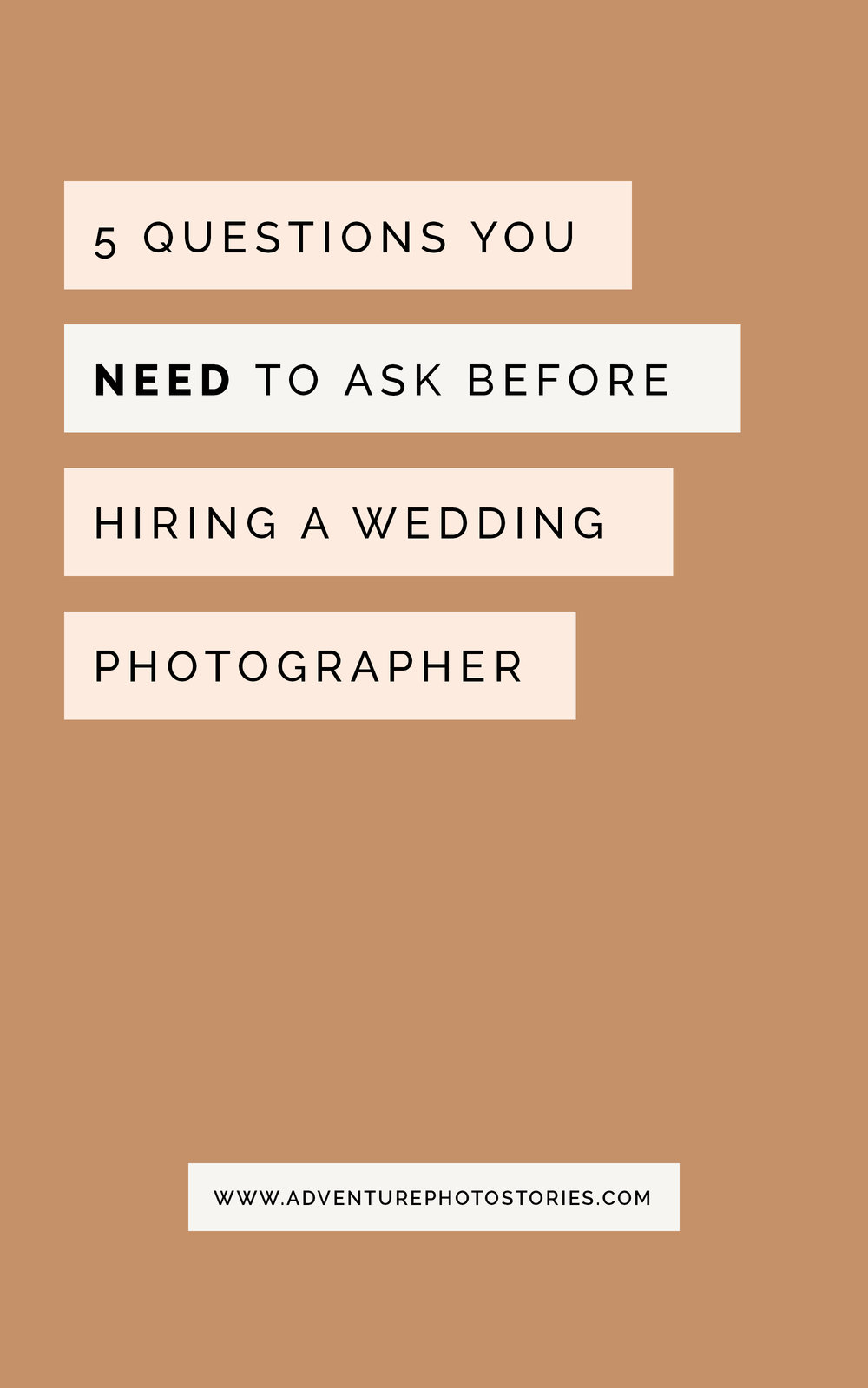 5 Questions You Need To Ask Before Hiring A Wedding Photographer