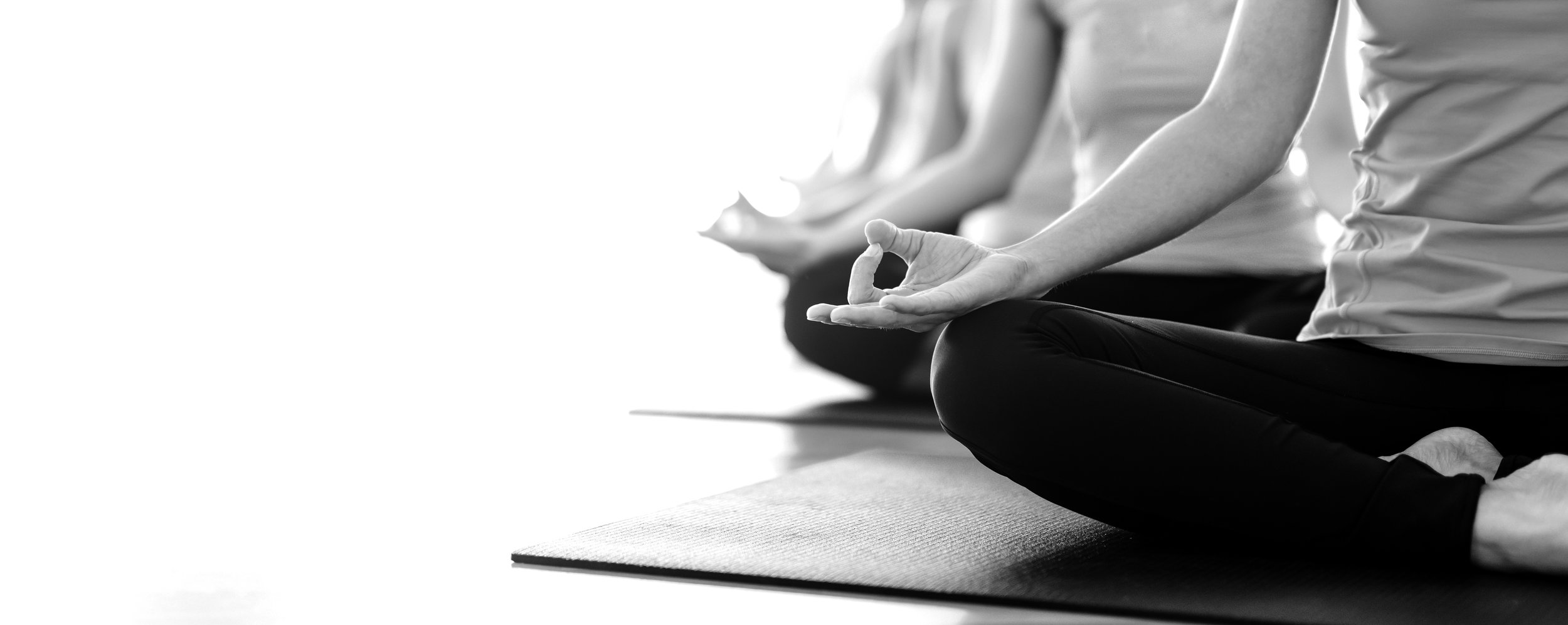 Yoga Black And White Banner