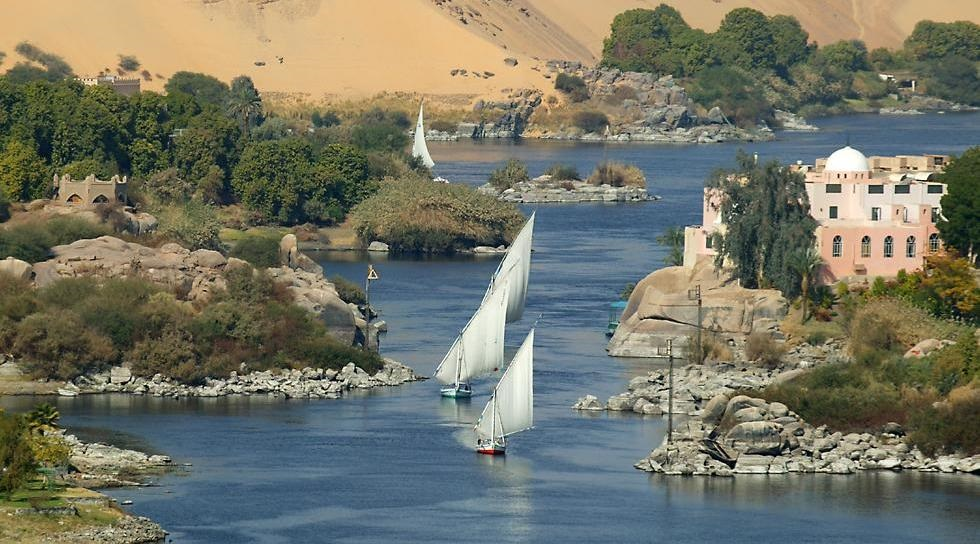 The Nile River at Aswan and Elephantine Island, Egypt | photo by Sam Valadi