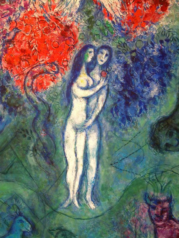 Adam and Eve by Marc Chagall