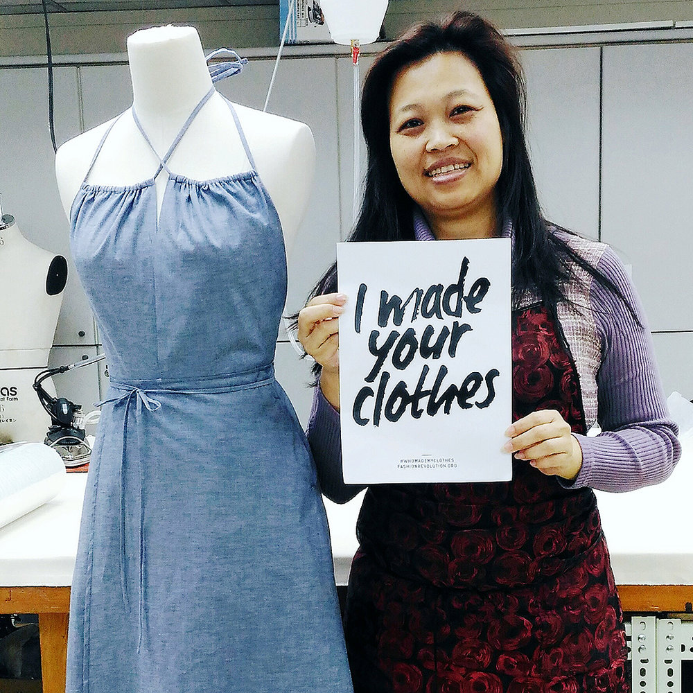 Joyce is a daughter, a wife and a mother of 3 from Taipei, Taiwan. She is also helping us make the W Dress for DOOBLAVEY. Participation in Fashion Revolution Week.