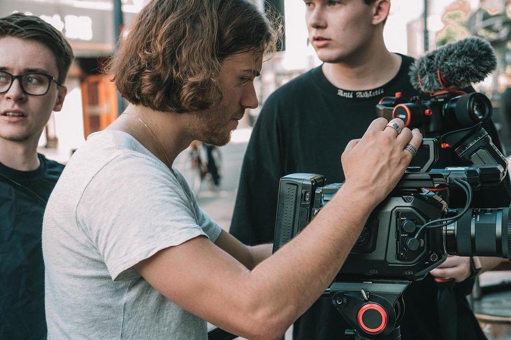 Jonny, Michael & Joe on set