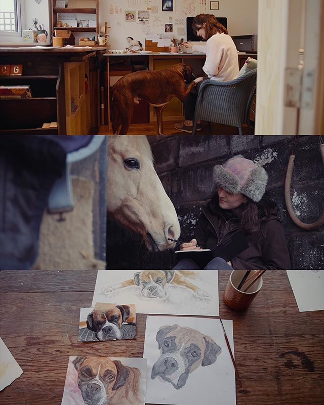 We're meeting with the lovely @carlagebhard_designs tomorrow for a follow up chat, here are some stills from the mini-doc we created for her in January!