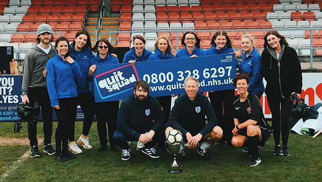 We had a great time today filming with the NHS Quit Squad! All will be revealed soon, but we'd like to thank @dancetalentstudio, @2nhalf_lions, Lancashire Football Association, Lostock Hall Girls, Penwortham Girls and of course the NHS for all your hard work today!