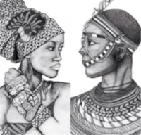 African Goddess  +  African Warrior     by Donna Taylor
