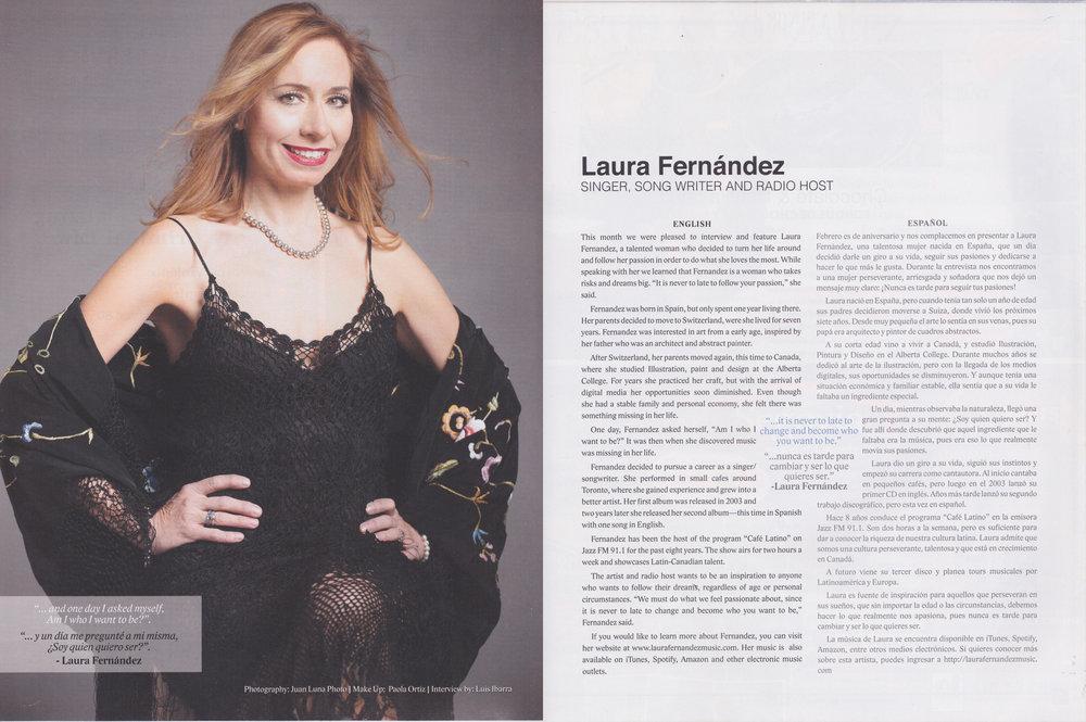 Laura Fernandez Latino Magazine Spread