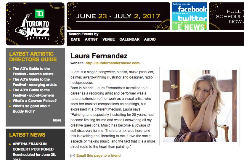 Laura Fernandez - Toronto Jazz Festival