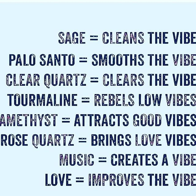 It's all about the vibe 〰️〰️ repost from @crystals_are_cool #goodvibes