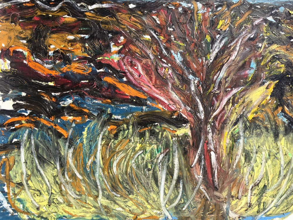 """Little tree in Inchigeelagh"", 2018. Oil on paper  64 x 50cm"