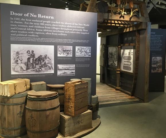 Interior of ABHM showing slave ship exhibit