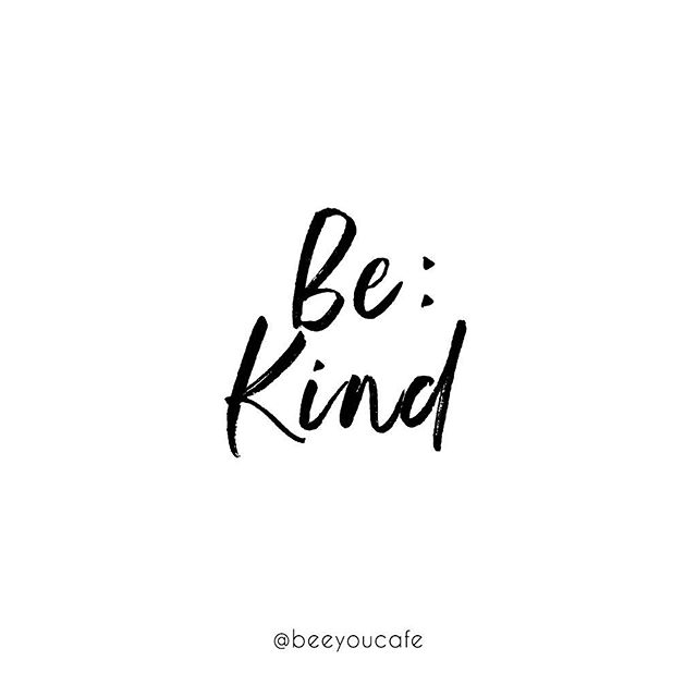 "Today's word of the day submitted by @staceyb_22 !!! Today, be kind. ""That's all it takes for this work to work just a teeny bit better! Kindness will prevail!"" I couldn't have said it better, Stacey. 🙌🏻✨🐝 . . . #beeyoucafe #uniontown #smallbusiness #shoplocal #cafe #coffee #coffeeshop #coffeehouse #yogic #yogaandcoffee #coffeebreak #coffeetime #baristalife #baristadaily #coffelovers #espresso #juice #smoothies #latteart #barista #goodcoffee #coffeedose #coffeeart #liveauthentic #livefolk #caffeine #coffelover #instacoffee #coffeefix #findyourhive"