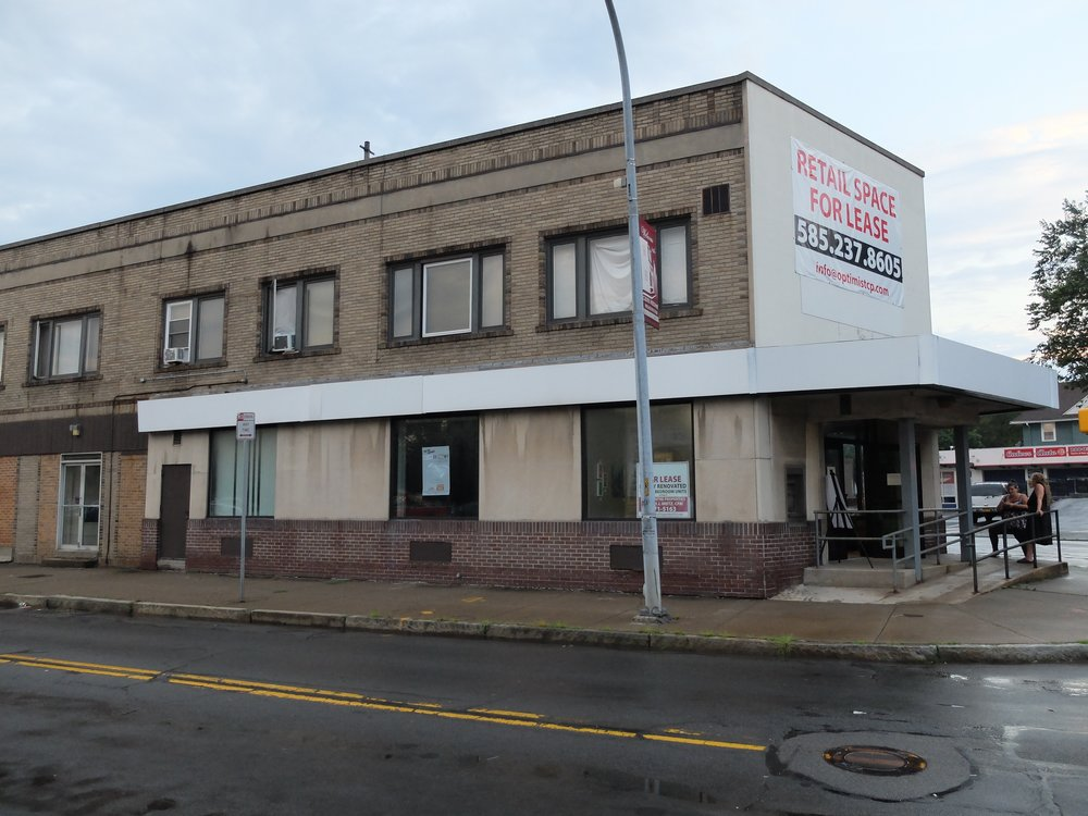 The outside of the currently vacant building.