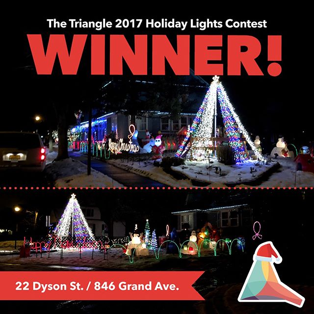 Congrats to this our 2017 Holiday Lights Contest Winner 22 Dyson St. / 846 Grand Ave! It's a truly beautiful display that is so large, you can't capture it in one photo. It's also accompanied with holiday music!  #holidaylightscontest #trythetriangle #thisisroc #rochester @northwintonvillage #northwintonvillage #roc #christmaslights