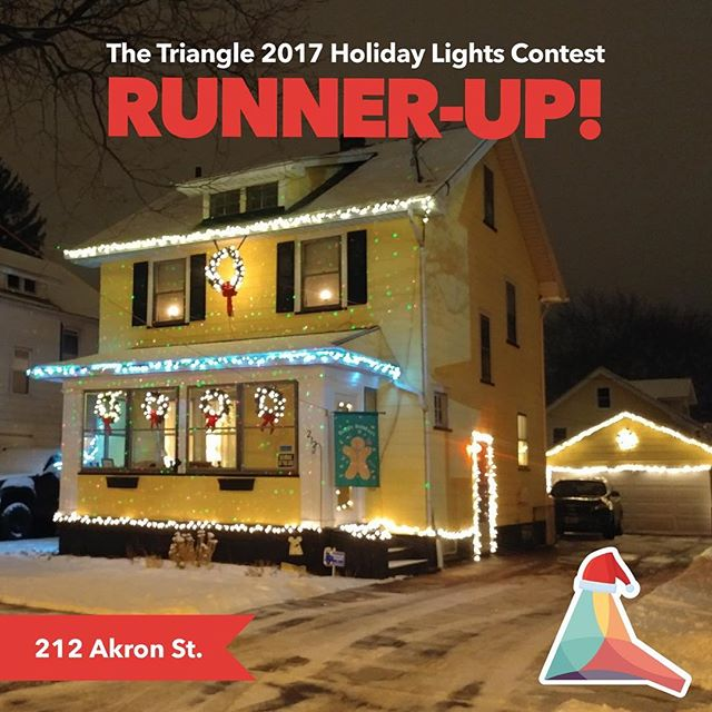 Congrats to this our 2017 Holiday Lights Contest Runner-Up! 212 Akron St! #holidaylightscontest #trythetriangle #thisisroc #rochester @northwintonvillage #northwintonvillage #roc #christmaslights