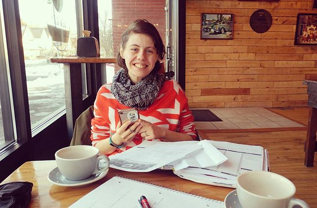 This morning's agenda included scheming-- I mean, collaborating!-- with Sami from the Pocket! More fun events like last year's potluck to come in 2018 and maybe some advocacy opportunities too ✌✌✌ #rochesterny #neighborhood #coffeeshop #shoptheroc #siptheroc #trythetriangle