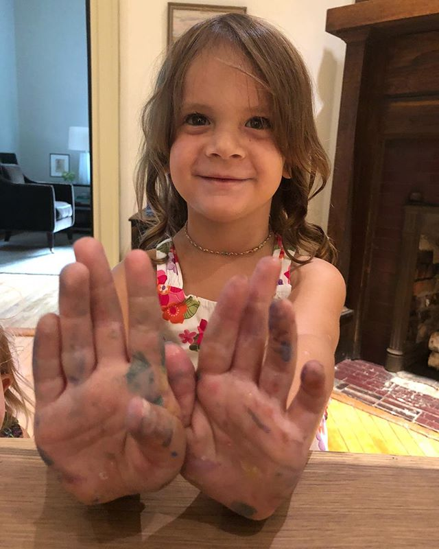 """""""My hands are as colorful as my picture!"""" Sounds like a fab painting session to me! #clairejanebradley"""