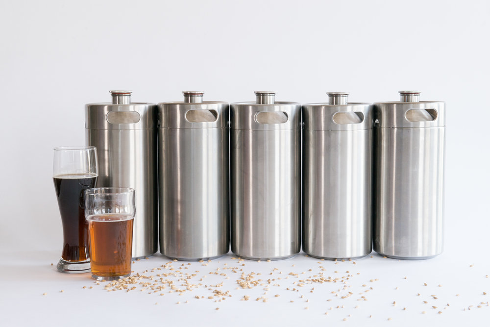 5 ManCan Picnic Kegs for 5 unique brews -