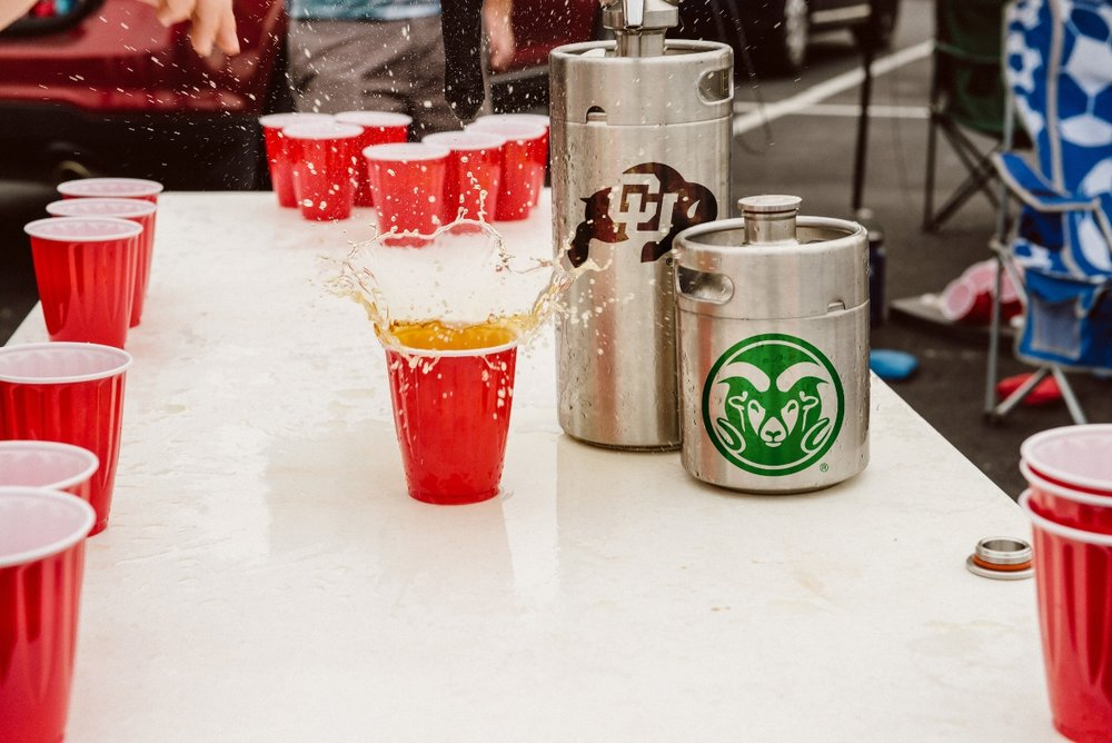 Tailgate in style! - Represent your school with one of our licensed collegiate ManCans.