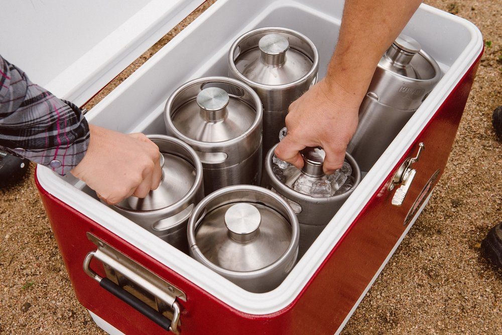 Keep beer fresher longer! - Our indestructible, stainless steel, keg-style growlers are designed to keep your beer fresh until the last drop.