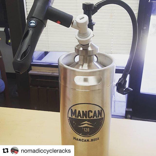 #Repost @nomadiccycleracks with @get_repost ・・・ Shop neighbors hooked it up for my b-day! #mancan #craftbeer #sandiegocraftbeer #8pintstogo #sharingiscaring ________________________________ #longlivemancan 🍺www.ManCan.beer🍺