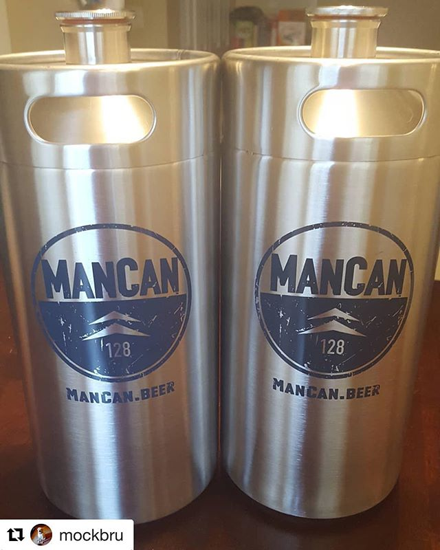 #Repost @mockbru with @get_repost ・・・ I couldn't be happier with the purchase of these 128 oz. growlers from @mancanbeer! So much so, that I ordered a third one with the picnic tap option. Sharing my homebrew got so much easier. #mancan #growler #stainlesssteel #beer #homebrewing __________________________________ #longlivemancan 🍺www.ManCan.beer🍺