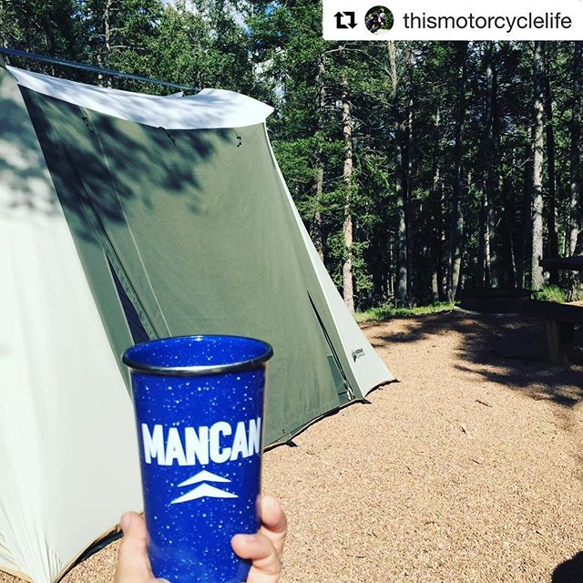 #Repost @thismotorcyclelife with @get_repost ・・・ We may have had some #homebrew from our #mancan @mancanbeer @ 9600 feet kegged at 600 feet. It was a challenge. Sleeping well in our #kodiakcanvas @kodiakcanvas ________________________________ 🍺www.ManCan.beer #longlivemancan