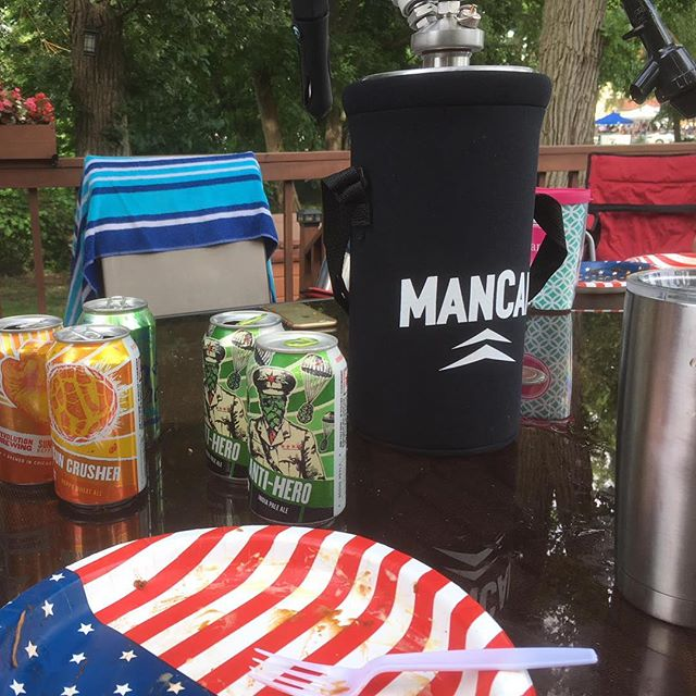 Hope everyone had a safe and memorable weekend 🇺🇸🍺💥#longlivemancan  ________________________________ 🍺www.ManCan.beer🍺