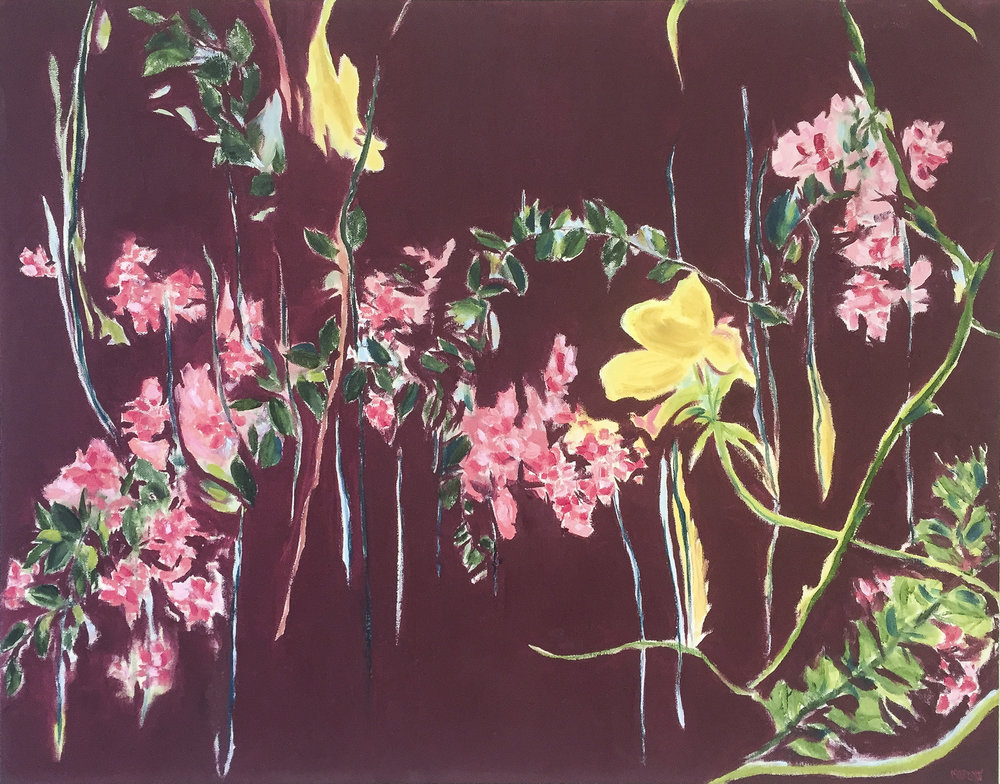 """Vintage Floral 22"""" x 28"""" oil on Gallery Wrap Canvas  $700.00"""